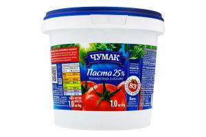 Паста томатна Чумак 25% з сіллю 1кг х8