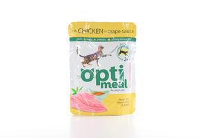 Корм влажный для взрослых котов С курицей в виноградном соусе Optimeal м/у 85г