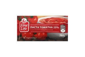 Паста томатна асептичного консервування 25% Fine Life м/у 70г