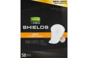 Depend for Men Shields Light Absorbency - 58 CT