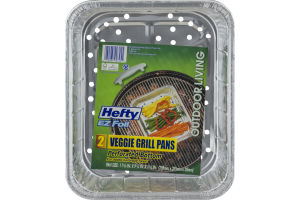 Hefty EZ Foil Veggie Grill Pans Perforated Bottom - 2 CT