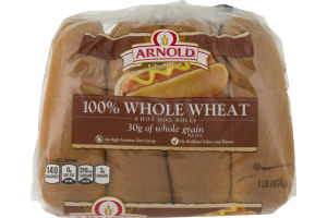 Arnold Select 100% Whole Wheat Hot Dog Rolls - 8 CT