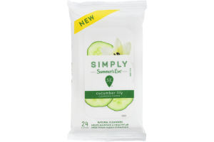 Simply Summer's Eve Cucumber Lily Cleansing Cloths - 24 CT