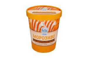 Морозиво 12% під карамельним соусом Лімо відро 500г