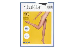 Колготки жіночі Intuicia Classic 40den №2 чорний
