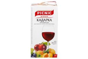 Вино 1л 9-12% Кадарка Черн Picnic т/п