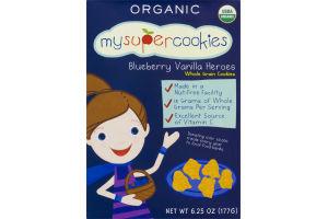 MySuperCookies Organic Blueberry Vanilla Heroes Whole Grain Cookies