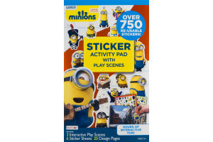 Bendon Minions Sticker Activity Pad With Play Scenes