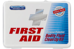 Physicians Care First Aid Personal Protection Bodily Fluid Clean Up Kit