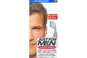 Just For Men Autostop Formula Easy Comb-In Haircolor A-30 Light-Medium Brown