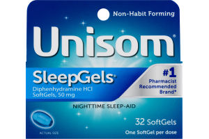 Unisom SleepGels Nighttime Sleep-Aid Softgels - 32 CT