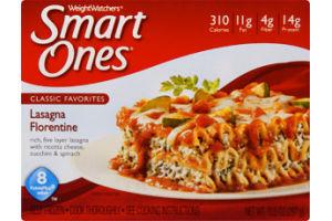 Weight Watchers Smart Ones Classic Favorites Lasagna Florentine