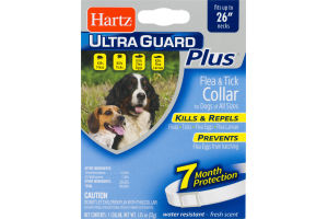 Hartz Ultra Guard Plus Flea & Tick Collar For Dogs Of All Sizes Up to 26""