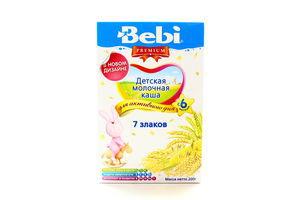 Каша детская молочная от 6 мес 7 злаков Premium Bebi к/у 200г