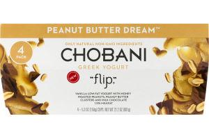 Chobani Greek Yogurt Flip Peanut Butter Dream - 4 PK