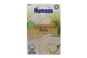 Каша безмолочная органическая рисовая для детей от 6-ти месяцев Humana к/у 200г