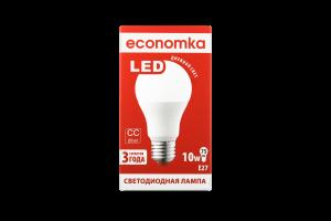 Лампа світлодіодна Economka LED A60 10W E27 4200K 1шт