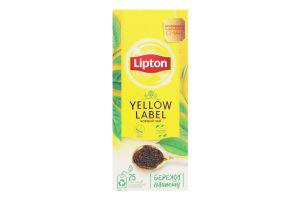 Чай черный байховый Yellow Label Lipton к/у 25х2г