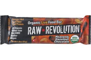 Raw Revolution Organic Live Food Bar Heavenly Hazelnut Chocolate