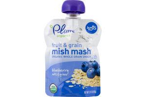 Plum Organics Fruit & Grain Mish Mash Organic Whole Grain Snack Pouch Blueberry Oats & Quinoa