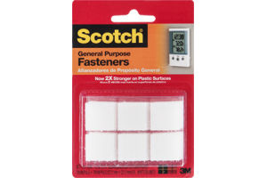 Scotch Fasteners General Purpose White - 12 CT