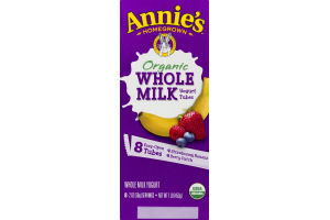 Annie's Homegrown Organic Whole Milk Yogurt Tubes Variety Pack - 8 CT