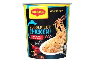 Вермишель быстрого приготовления со вкусом курицы и перцем чили острая Magic Asia Maggi ст 63г
