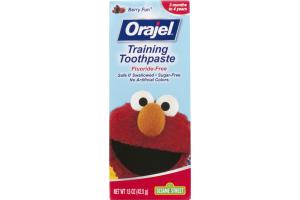 Orajel Fluoride-Free Sesame Street Training Toothpaste Berry Fun