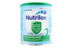 Суміш молочна суха для дітей від 6 до 12міс Кисломолочний 2 Nutrilon з/б 400г