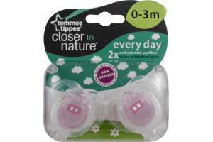 Tommee Tippee Closer to Nature Everyday Orthodontic Pacifiers 0-3M - 2 CT
