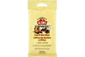 Kiwi Express Shine Wipes - 15 CT