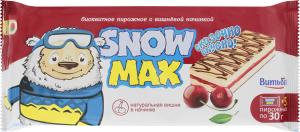 Тістечко бісквітне з вишневою начинкою Snow Max Витьба м/у 5х30г