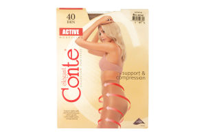 Колготы женские Conte Active 40den 4-L bronz