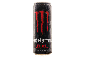 Напій енергетичний безалкогольний сильногазований Fury Monster Energy з/б 335мл