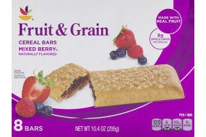 Ahold Fruit & Grain Cereal Bars Mixed Berry - 8 CT