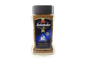 Кофе натуральный растворимый сублимированный Blue Label Ambassador с/б 190г