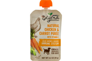 Purina Beyond Natural Chicken & Carrot Puree for Dogs