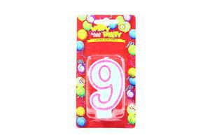 Свічки Happy Party Веселе свято для торту глазуров рожева 9
