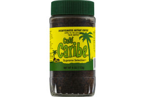 Cafe Caribe Supreme Selection Coffee for the Latin Taste Decaffeinated Instant Coffee