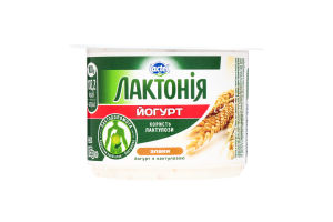 Йогурт злаки з лактулозою 3,3% Лактонія кв. стаканчик 0,115кг