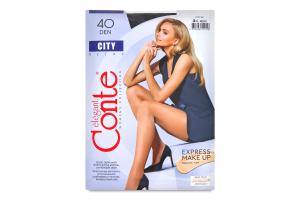 Колготки жіночі Conte City №8С-38СПС 40den 4-L nero