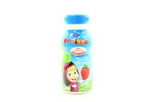 Йогурт 1,4% питьевой клубничный Danone Маша и Медведь бут 200г