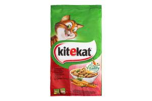 Корм сухой для взрослых кошек С говядиной и овощами KiteKat м/у 300г
