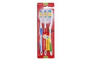 Щітка зубна середньої жорсткості Класика здоров'я Colgate 3шт