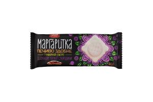 Печенье сдобное в молочной глазури со вкусом черной смородины Маргаритка Delicia м/у 150г