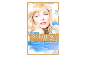 Фарба для волосся Excellence bIonde 03 світлий попелястий блондин