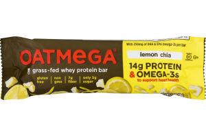 Oatmega Grass-Fed Whey Protein Bar Lemon Chia