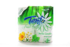 Бумага туалетная 3-х слойная Herbal Sensitive Feel Good Tento 4шт