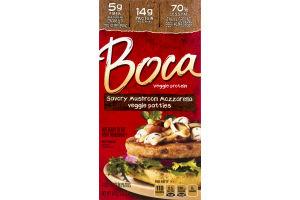 Boca Veggie Protein Patties Savory Mushroom Mozzarella - 4 CT