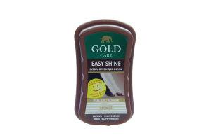 Губка-блеск для обуви коричневая Gold Care 1шт